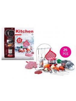 Посуда кухонная, металл, набор 25 предметов, 41х39,5х10 см