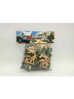 Солдатики Junfa пластмассовые, в пакете 62 шт