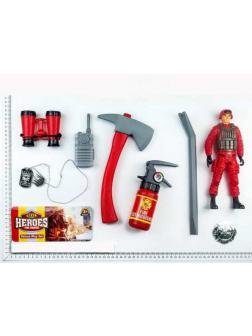 Набор игровой пожарного c фигуркой и аксессуарами