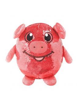 Shimmeez (Шиммиз), мягконабивная фигурка свинки в пайетках, 20 см, 9 шт в дисплее
