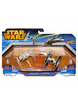 Звездные корабли Hot Wheels Star Wars «X-Wing Fighter vs TIE-Fighter»