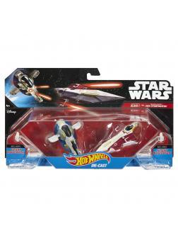 Звездные корабли Hot Wheels Star Wars «Jango Fett Slave 1 vs. Obi-Wan Kenobi Jedi Starfighter»