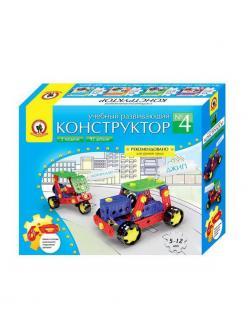 Конструктор Русский Стиль учебный развивающий 4 92 детали из пластмассы