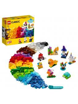 Конструктор LEGO Classic «Прозрачные кубики» 11013 / 500 деталей