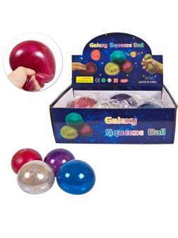 Игрушка-антистресс Junfa Мяч с глиттером, 10 см
