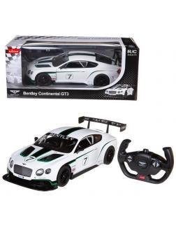 Машинка на радиоуправлении RASTAR Bentley Continetal GT, белый 1:12
