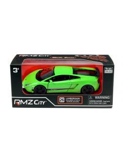 Машинка металлическая Uni-Fortune RMZ City 1:36 Lamborghini Gallardo LP570-4 Superleggera, инерционная, зеленый матовый цвет