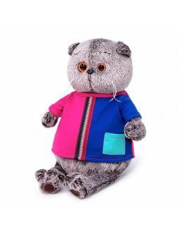 Мягкая игрушка BUDI BASA Кот Басик в двухцветной футболке 22 см
