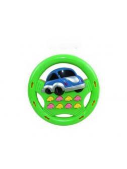 Игрушка для малышей. Руль детский со световыми и звуковыми эффектами 13x13x3см