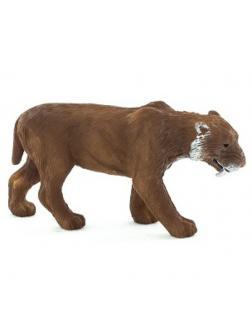 Тигр саблезубый Смилодон 5,5х2х3см