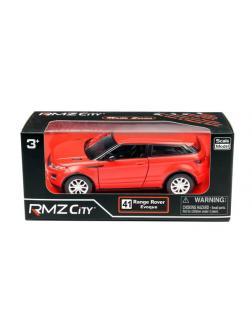 Машинка металлическая Uni-Fortune RMZ City 1:32 Range Rover Evoque, инерционная, красный матовый цвет, 16.5 x 7.5 x 7 см