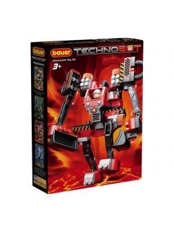 Конструктор Bauer Technobot с большим роботом и пилотом чёрно-красный
