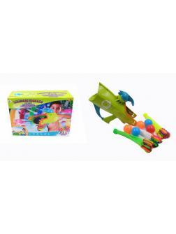 Бластер для запуска водных бомбочек и мячей однозарядный 3 в 1 Веселые забавы, 2 цвета PT-00868 / ABtoys