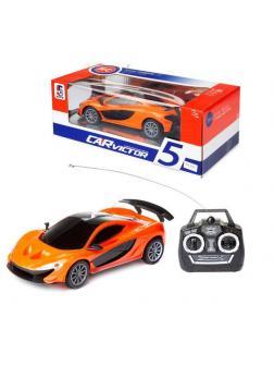 Машинка р/у 1:22, световые эффекты, цвета в ассорт. (оранжевый, черный) 26х12х10 см