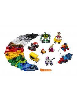 Конструктор LEGO Classic «Кубики и колёса» 11014 / 653 детали