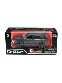 Машинка металлическая Uni-Fortune RMZ City 1:32 Range Rover Sport, инерционная, черный матовый цвет, 16.5 x 7.5 x 7 см