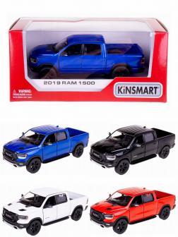 Металлическая машинка Kinsmart 1:46 «2019 Dodge RAM 1500» KT5413W, инерционная в коробке / Микс