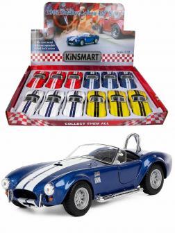 Машинка металлическая Kinsmart 1:32 «1965 Shelby Cobra 427 S/C» KT5322D инерционная / Синий