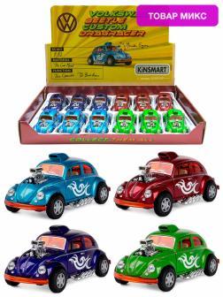 Металлическая машинка Kinsmart 1:32 «Volkswagen Beetle Custom Dragracer» KT5405D инерционная / Микс