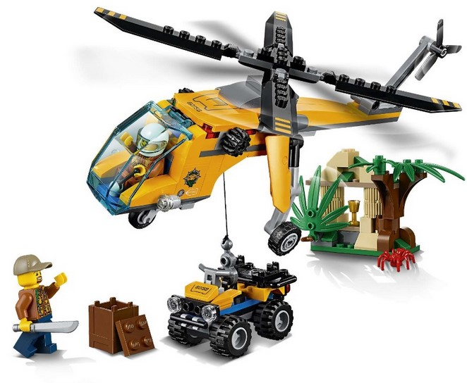 Конструктор Bl «Грузовой вертолёт исследователей джунглей» 10709 (City 60158), 216 деталей
