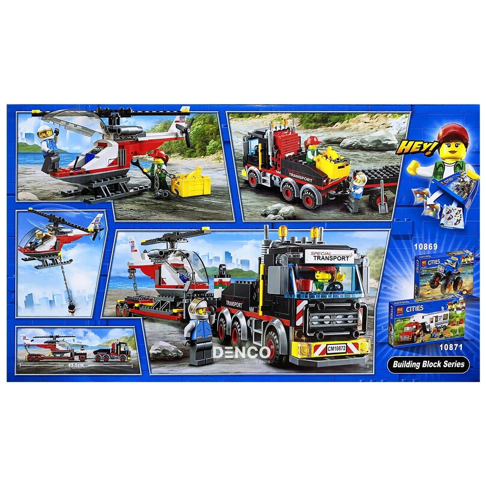 Конструктор Bl «Перевозчик вертолета» 10872 (City 60183) 322 детали