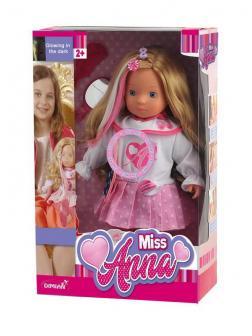 Кукла DIMIAN Miss Anna, интерактивная 40 см, светящиеся волосы , со звуковыми эффектами.