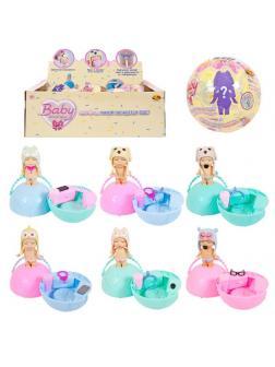 Кукла ABtoys Baby boutique Пупс-сюрприз в шаре, с аксессуарами, 6 шт в дисплее