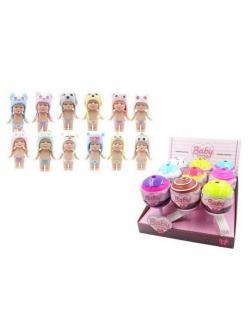Кукла ABtoys Baby Boutique Пупс-сюрприз в конфетке с аксессуарами 12 видов в коллекции, (1 серия),
