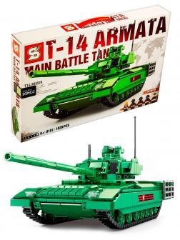 Конструктор SY «Основной боевой танк Т-14 Армата» SY0101 Survival Warfare / 1020 деталей