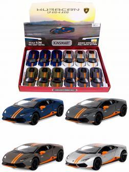 Металлическая машинка Kinsmart 1:36 «Lamborghini Huracan LP610-4 Avio» KT5401D, инерционная / Микс