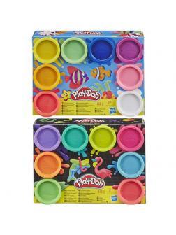 Набор для творчества Hasbro Play-Doh Пластилин для лепки 8 баночек