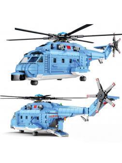 Конструктор Sembo Block «Военно-транспортный вертолёт Z-18» 202051 / 908 деталей