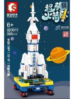 Конструктор Sembo Block «Космическая станция CZ-2F» 203011 / 395 деталей