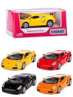 Металлическая машинка Kinsmart 1:32 «Lamborghini Gallardo» KT5098W, инерционная в коробке / Микс