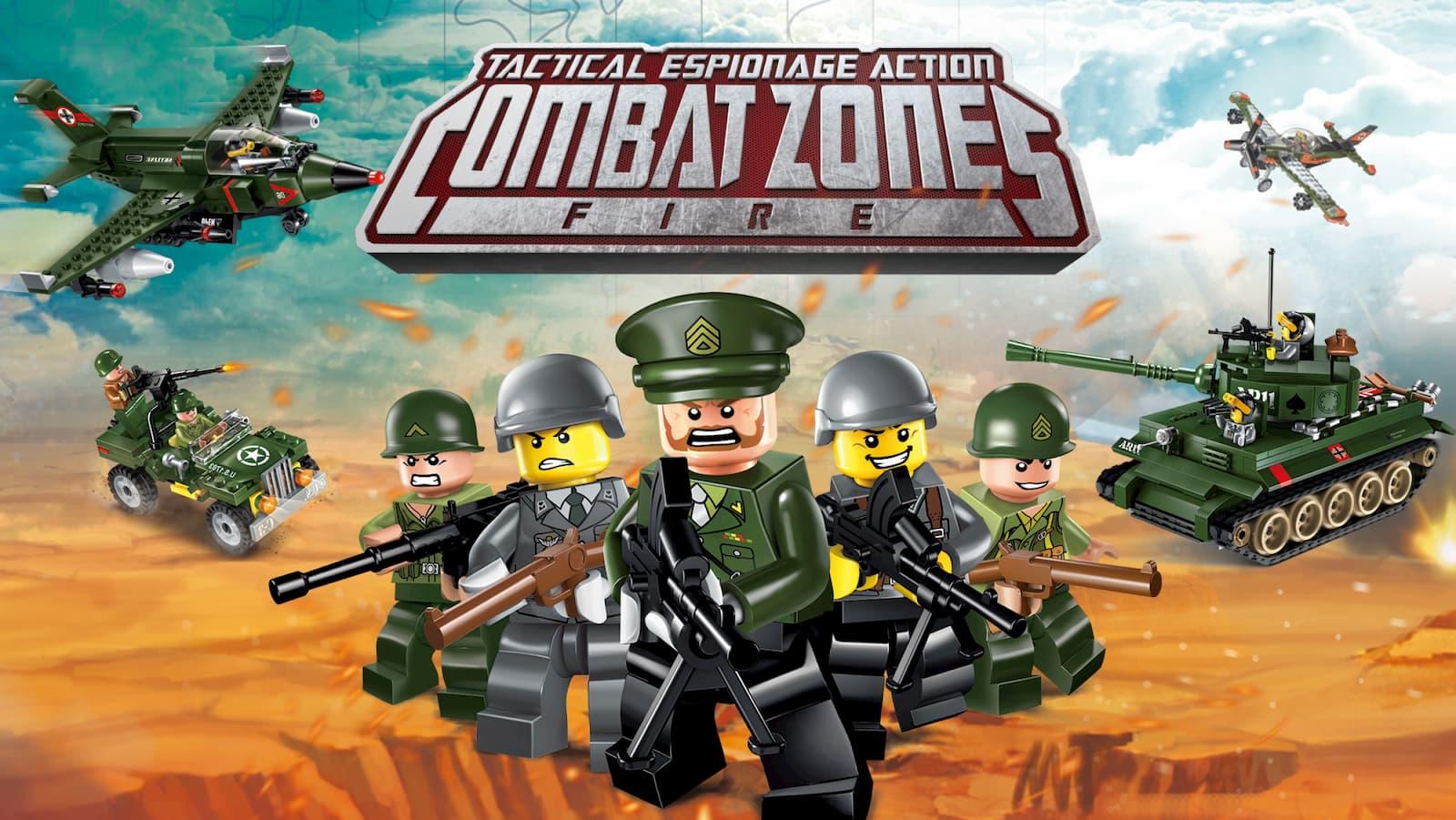 Конструктор Qman «Большая Авианесущая группа» C1724 Combat Zones / 1107 деталей