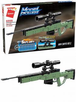 Конструктор Qman «Снайперская винтовка AWM с мягкими пулями» 6008 / 635 деталей