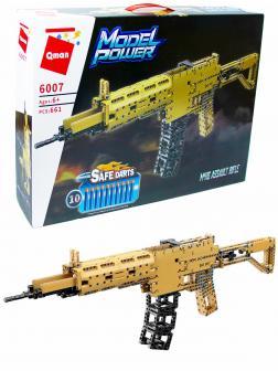 Конструктор Qman «Штурмовая винтовка М416 с мягкими пулями» 6007 Model Power / 661 деталь
