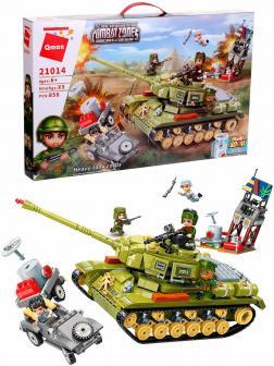 Конструктор Qman «Тяжелый Советский Танк » 21014 Combat Zones / 858 деталей