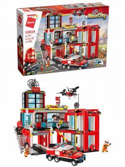 Конструктор Qman «Пожарно-спасательное бюро» 12014 Mine City Fire / 693 детали