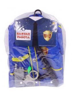 Игровой набор ABtoys Важная работа Форма полицейского 6 предметов в наборе с аксессуарами