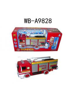 Мыльные пузыри Junfa Пожарная машина на батарейках