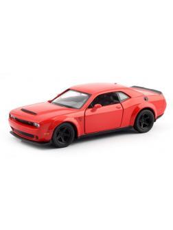 Машинка металлическая Uni-Fortune RMZ City 1:32 Dodge Challenger SRT Demon 2018 (цвет красный)