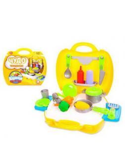 Игровой набор ABtoys Чудо-чемоданчик Кухня 21 предмет