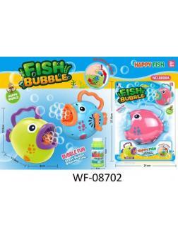 Игрушка Junfa Машинка для запуска мыльных пузырей Рыбка