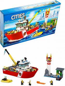 Конструктор «Пожарный катер» 10830 (City 60109) / 450 деталей