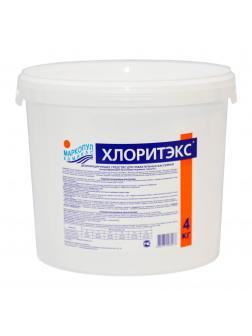ХЛОРИТЭКС, 4кг ведро, гранулы, средство для текущей и ударной дезинфекции воды