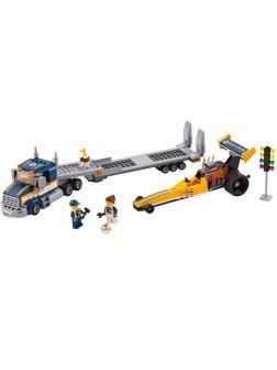 Конструктор Bl «Грузовик для перевозки драгстера» 10650 (City 60151) / 345 деталей