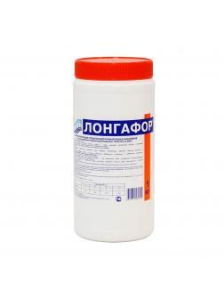 ЛОНГАФОР, 1кг банка, табл.200гр, медленнорастворимый хлор для непрерывной дезинфекции воды