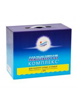 МИНИПУЛ КОМПЛЕКС, 5,5кг коробка, набор химии 5 в 1 для полного ухода за бассейном от 10 до 30м3