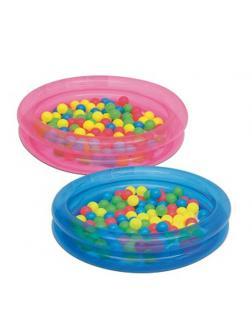 Детский надувной бассейн 91x20см с мячами (50шт), 73л, от 2 лет
